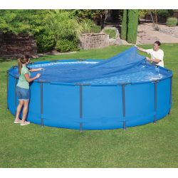 Bâche à bulles pour piscine Bestway ronde Steel Pro