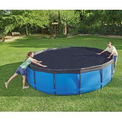 Bâche de protection pour piscine Bestway ronde Steel Pro