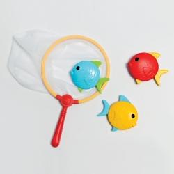 Jeu de plongee poissons avec filet