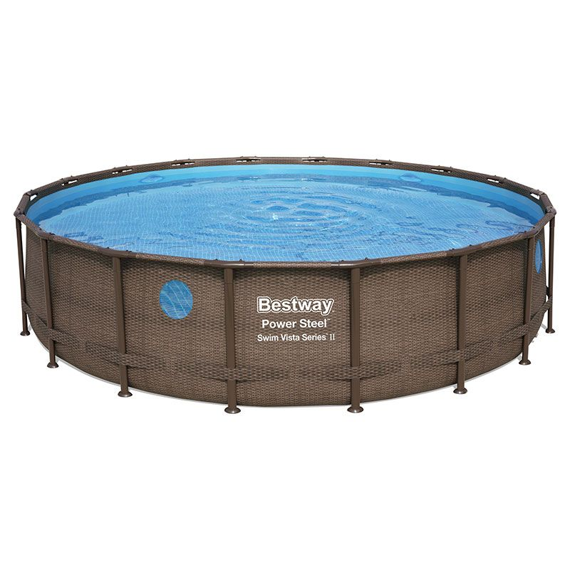 Piscine tubulaire Bestway Ronde Power Steel Swim Vista 5,49 x h1,22m
