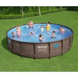 Piscine hors-sol Bestway Ronde Power Steel Swim Vista 5,49 x h1,22m