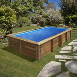 Piscine bois rectangulaire Lemon 3,75 x 2,00 x h0,68m