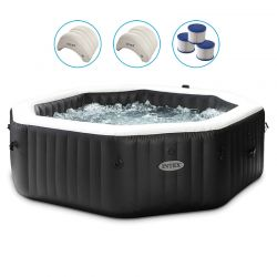 Spa Intex Pure Spa Carbone bulles et jets 6 places
