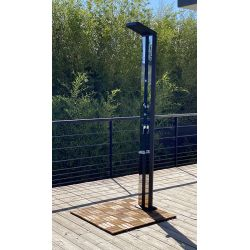 Douche solaire Anais deluxe 38L avec rince pieds et brumisateur