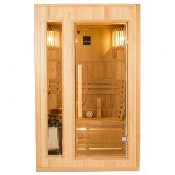 Sauna traditionnel à vapeur Zen 2 places