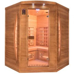 Sauna infrarouge Spectra 3 places angulaire