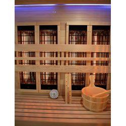 Sauna hybride vapeur et infrarouge Vénus 3 places d'angle