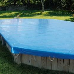Bâche d'hivernage pour piscine bois Sunbay