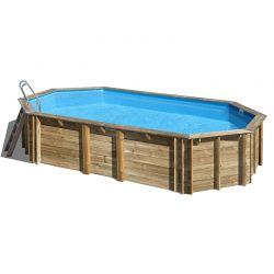 Piscine bois Orange 7,55 x 4,56 x h1,46m