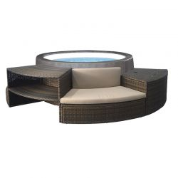 Spa semi-rigide NetSpa Vita Premium 6 places avec mobilier
