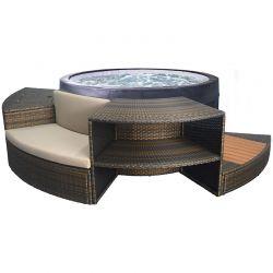 Spa semi-rigide NetSpa Vita 4 places avec mobilier