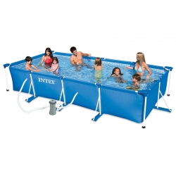 Piscine tubulaire Intex Metal frame 4,50 x 2,20 x h0,84m