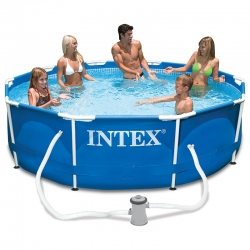 Piscine tubulaire Intex Metal frame 3,05 x h0,76m