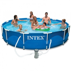 Piscine tubulaire Intex Metal frame 3,66 x h0,76m