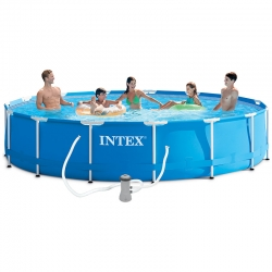 Piscine tubulaire Intex Metal frame 4,57 x h0,84m