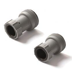 Adaptateur Bestway 32-38mm pour tuyau avec bague de serrage (lot de 2)