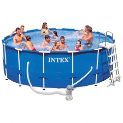 Piscine tubulaire Intex Metal frame 4,57 x h1,22m