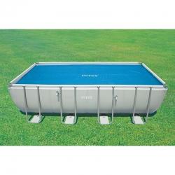 Bâche à bulles pour piscine Intex rectangulaire