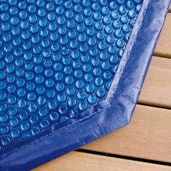 Bâche à bulles pour piscine bois Ubbink octogonale allongée