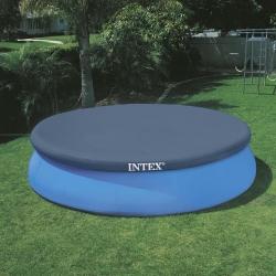 Bâche de protection pour piscine Intex autoportante ronde