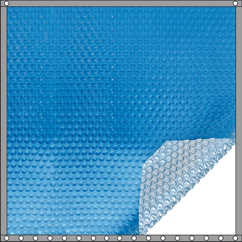 Bâche à bulles Quatro 400 microns bleu - argent
