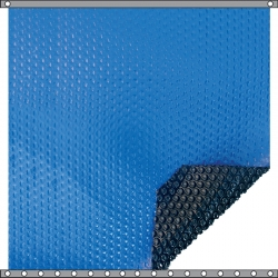 Bâche à bulles Duo 400 microns bleu - noir