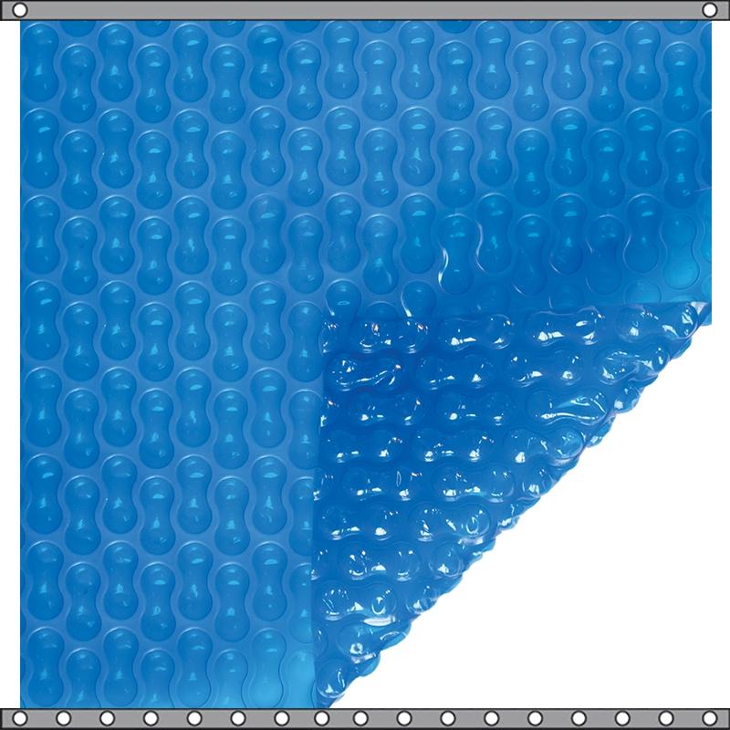 Bâche à bulles Duo 500 microns Geo Bubble bleu
