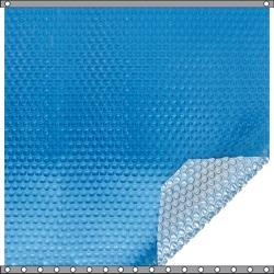 Bâche à bulles Duo 500 microns bleu - argent