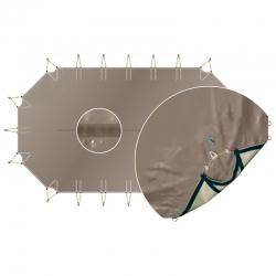 Bâche d'hivernage opaque luxe pour piscine bois
