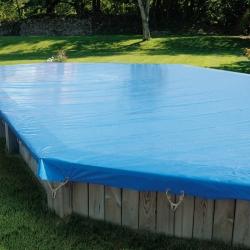 Bâche d'hivernage opaque classic pour piscine bois