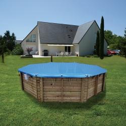 Bâche à barres pour piscine bois
