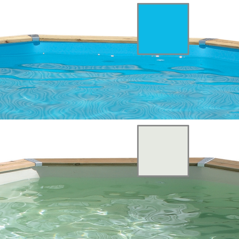 Liner pour piscine bois ubbink octogonale allong e for Commander liner piscine
