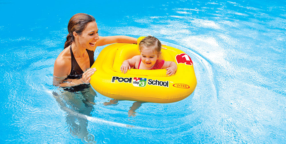 Bouée culotte pool school gonglable Intex