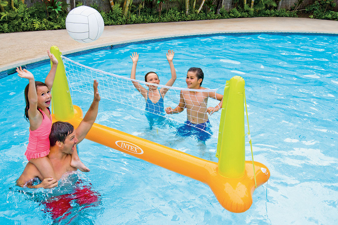 Jeu de volley intex - Filet de volley piscine ...