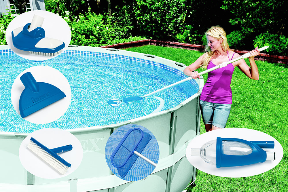 Kit entretien intex vac plus for Aspirateur piscine skimmer