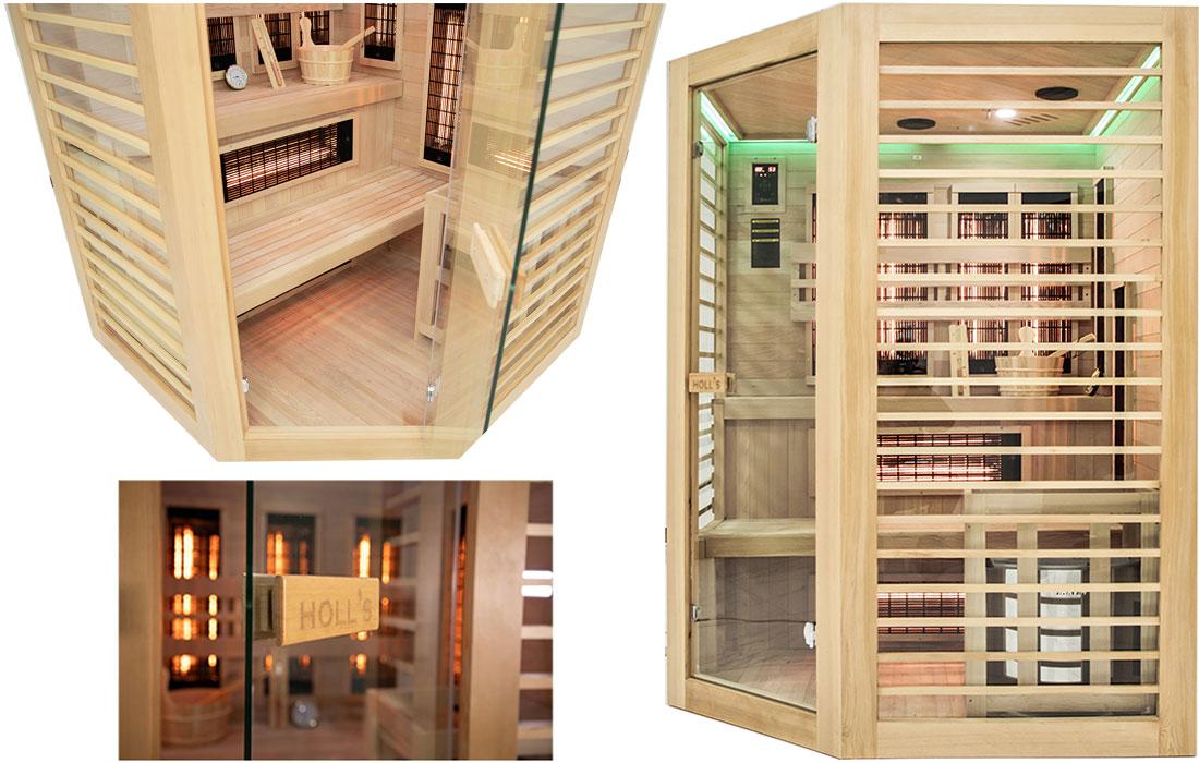 Intérieur sauna Hybride Venus 3 à 4 places