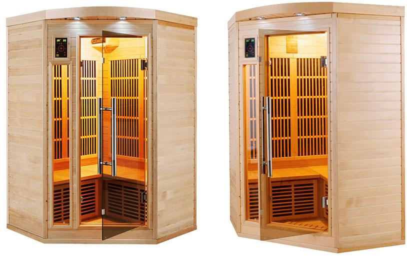 Sauna infrarouge Apollon 2/3 places d'angle