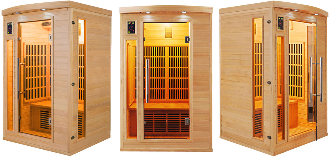 sauna infrarouge apollon 2 places par france sauna. Black Bedroom Furniture Sets. Home Design Ideas