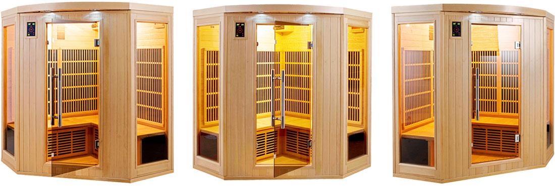 Sauna infrarouge Apollon 3/4 places d'angle