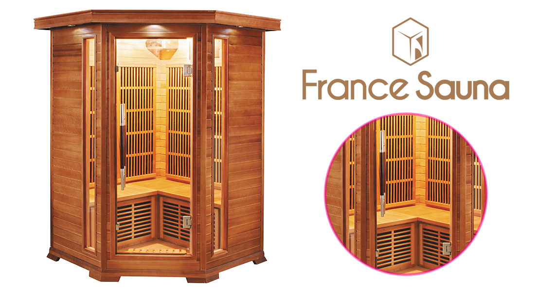 Sauna infrarouge Luxe d'angle 2/3 places