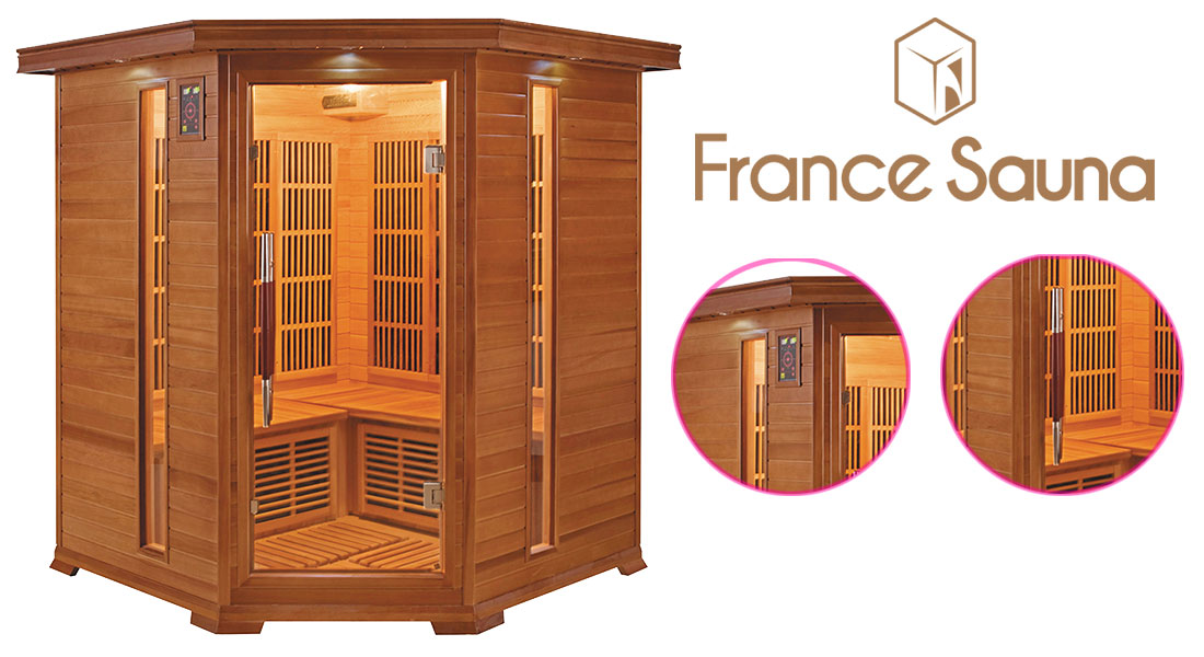 Sauna infrarouge Luxe d'angle 3/4 places