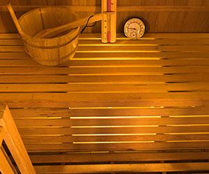 Luminaire sous banquette Sauna vapeur