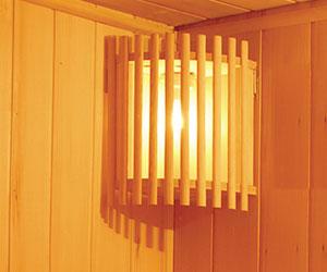 Luminaire Sauna vapeur