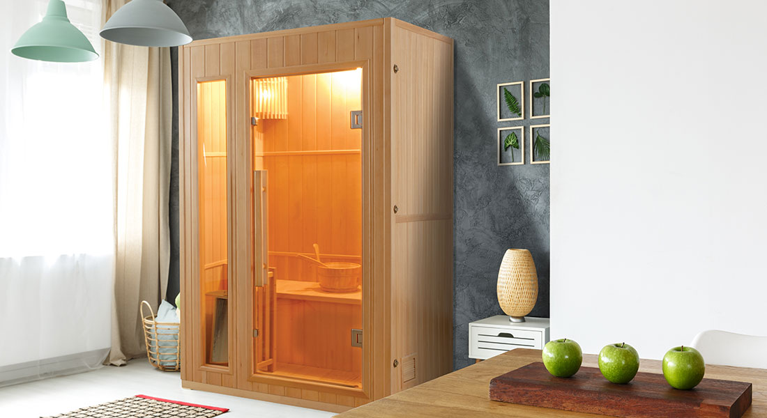 Sauna traditionnel vapeur Zen 2 places