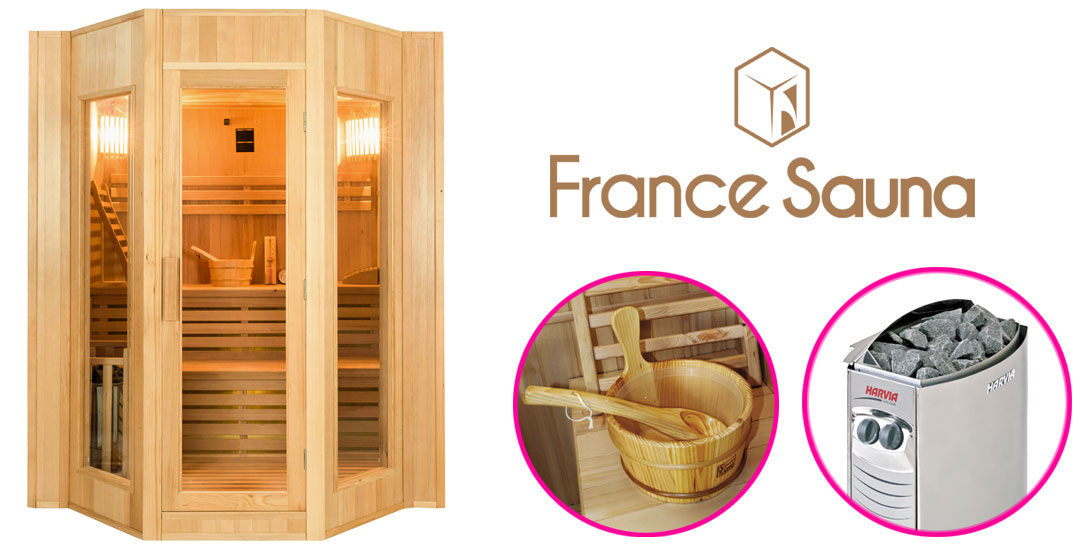 sauna traditionnel vapeur zen 4 places par france sauna. Black Bedroom Furniture Sets. Home Design Ideas