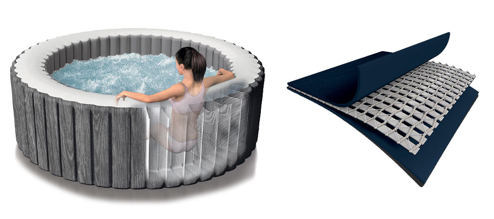 Technologie Fiber Tech du spa PureSpa Intex Baltik 6 places luxe LED