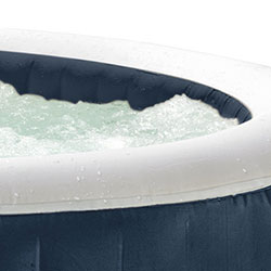Bulles du Spa Gonflable intex luxe 4 places blue navy luxe