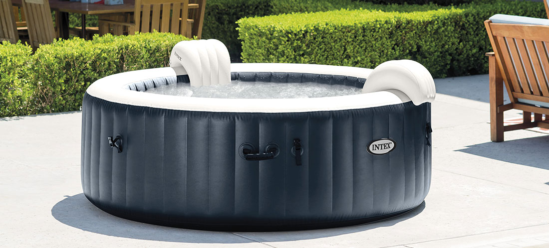 Spa gonflable intex Blue NavyPureSpa à bulles 4 places luxe LED