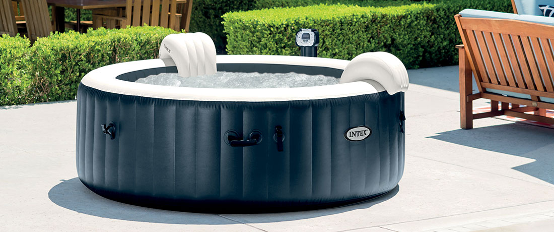 Spa Intex Pure Spa Bulles 6 Places Luxe Led Blue Navy