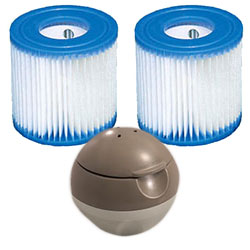 Diffuseur Spa Gonflable pour spa intex LED Baltik luxe 6 places bleu